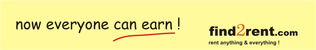 earn money is easy now, rent anything & everything!